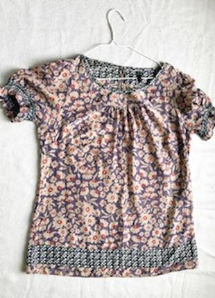 Блузка с коротким рукавом в цветок marks&spenser