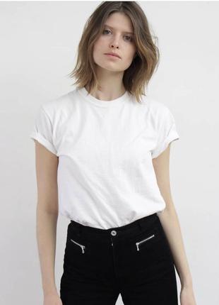 Белая футболка чистая без принта / без надписи