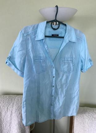 Льняная легкая рубашка