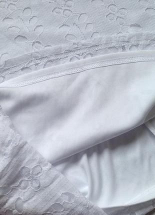 Белое платье миди3 фото