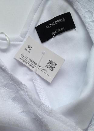 Белое платье миди4 фото