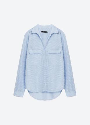 Ультра легкая натуральная рубашка zara