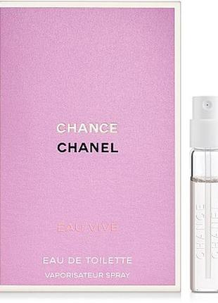 Chanel chance eau tender, edt, пробник 1,5 мл, оригинал.