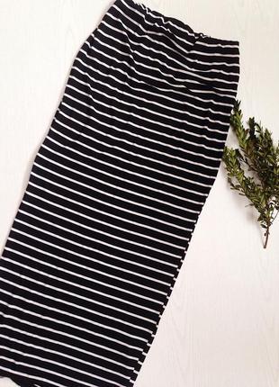 Универсальная юбка макси платье в полоску