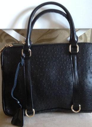 Стильная сумка  с имитацией кожи страуса, распродажа остатков