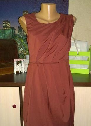 Платье чехол футляр из мокрого шелка ax paris