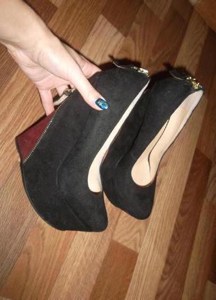 Шикарные туфли,высокая платформа sharman