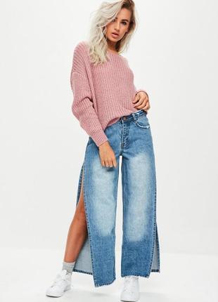 Oversize свитер цвета пыльной розы