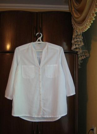 Рубашка monsoon, лен, размер 16/44