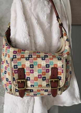 Красивая винтажная сумочка оригинал номерная fossil