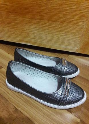 Летние туфли (балетки)