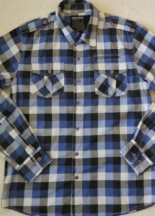 Новая рубашка в клетку urban spirit размер xs-s