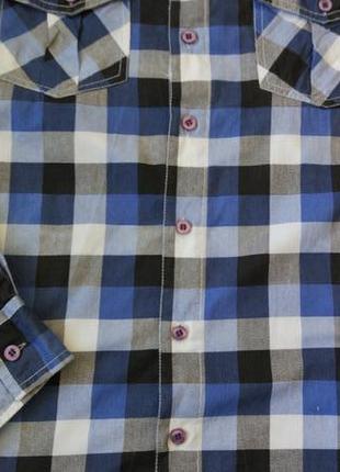 Новая рубашка в клетку urban spirit размер xs-s3 фото