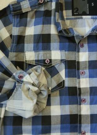 Новая рубашка в клетку urban spirit размер xs-s4 фото
