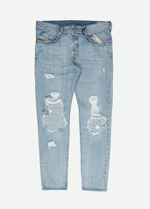 Рваные джинсы diesel buster distressed light wash4 фото