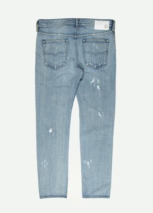 Рваные джинсы diesel buster distressed light wash5 фото