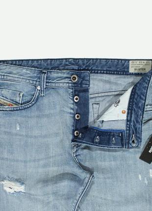 Рваные джинсы diesel buster distressed light wash6 фото