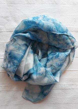 Шелковый квадратный платок#шарф#шарфик, 100% шелк, шов роуль.