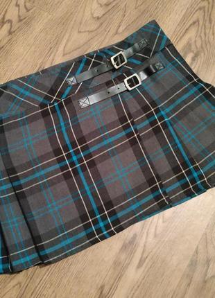 """Мини юбка в клетку шотландка короткая низкой посадки типа """"школьная"""")"""