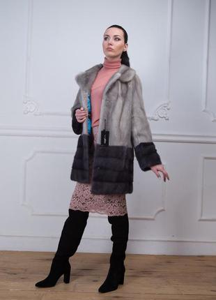 Норковая шуба итальянская коллекция осень-зима 2019-2020