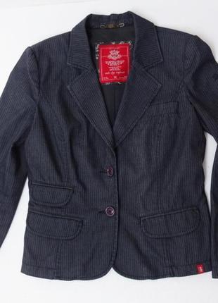Edc. пиджак укороченный в полосочку.