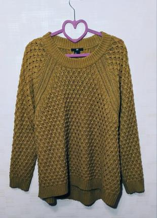 Стильный вязаный свитер кофта свитшот оверсайз oversize h&m рр s