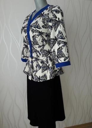 Супер красивый, деловой и нарядный женский костюм: пиджак+ юбка