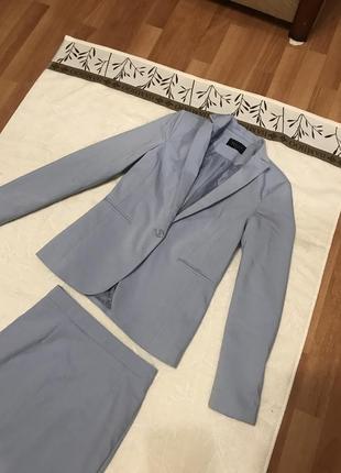 Костюм с юбкой-карандаш деловой костюм пиджак жакет юбка5 фото
