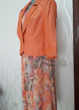 Яркий, суперкрасивый, нежный,нарядный и женственный- костюм. на подкладке. iris