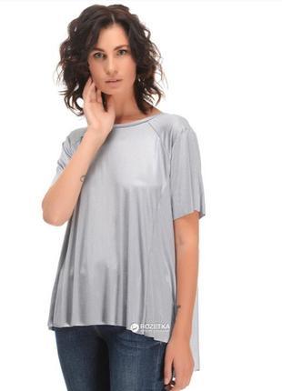 Серебристая футболка casual zara/летняя распродажа 🍀🍀🍀