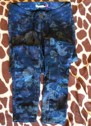 Джегинсы джинсы леггинсы stradivarius в принт розы