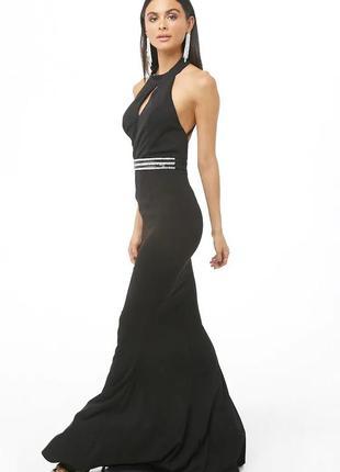 🖤элегантное вечернее макси платье с открытой спиной силуэт рыбка2 фото