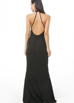 🖤элегантное вечернее макси платье с открытой спиной силуэт рыбка8 фото