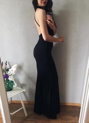 🖤элегантное вечернее макси платье с открытой спиной силуэт рыбка6 фото