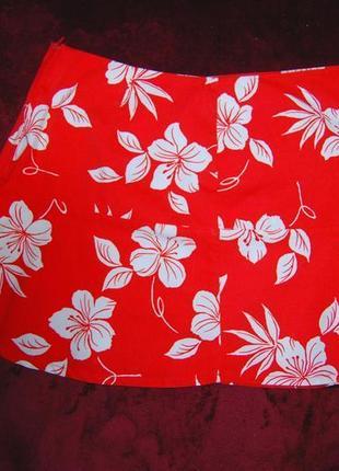 Чудесная яркая мини юбка