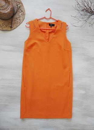 Платье next прямое, ярко-оранжевое, деловое и стильное
