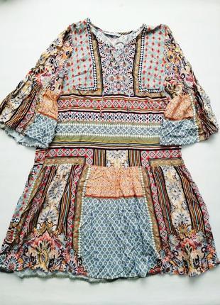 Воздушное яркое платье