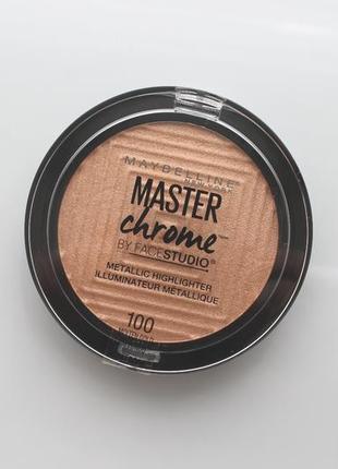 "Хайлайтер для лица ""master chrome"" maybelline ny100"