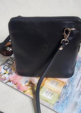 Сумочка кроссбоди сумка vera pelle клатч кожа1 фото