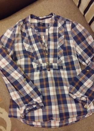 Прикольная хлопковая рубашка в стиле кантри