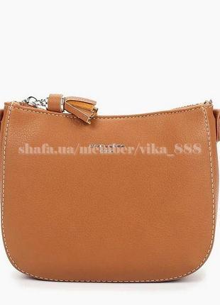 Клатч, сумка через плечо david jones 5093 коричневый