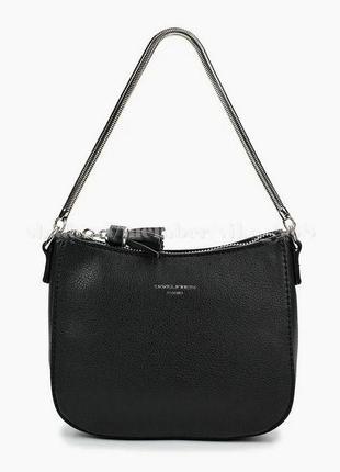 Клатч, сумка через плечо david jones 5093 черная