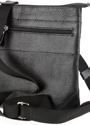 653c135f5482 Кожаная мужская сумка через плечо черная, цена - 800 грн, #23255398 ...