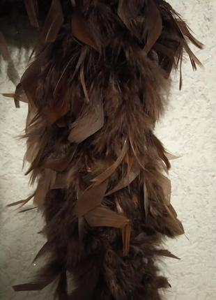 Боа шарф из перьев