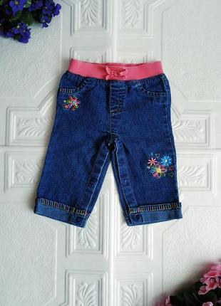 Джинсы с вышивкой arizona, штаны под памперс