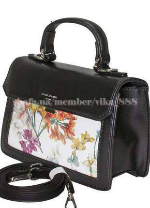 Клатч, сумка через плечо david jones 5110 черный