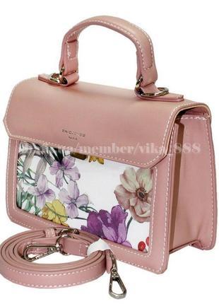Клатч, сумка через плечо david jones 5110 розовый