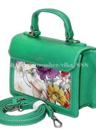 Клатч, сумка через плечо david jones 5110 зеленый