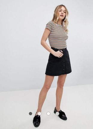 Джинсова юбка на ґудзиках від topshop🖤🖤🖤