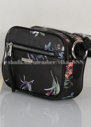 Клатч, сумка через плечо david jones 5996 черный